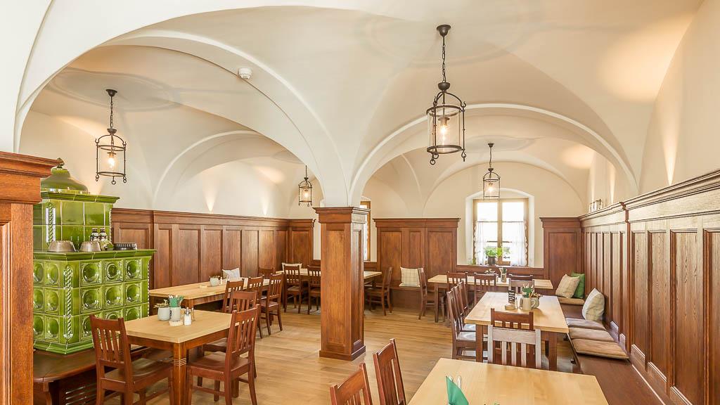 Speisesaal im Hotel der Millipp Beilngries Schoppmeyer GmbH
